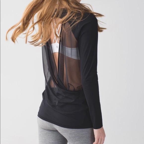 Lululemon mesh open back long sleeve